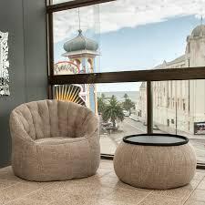Bean Bag Chair With Ottoman Interior Bean Bags Chair Butterfly Sofa Eco Weave Bean Bag