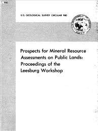 prospects for mineral resource assessments on public lands