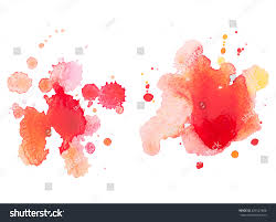 abstract watercolor hand drawn red drop stock vector 226527688