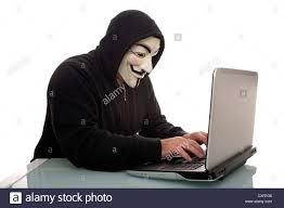 V For Vendetta Mask Man Wearing A