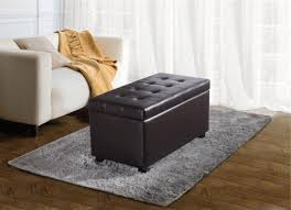 enchanting brown leather storage ottoman top 10 best storage