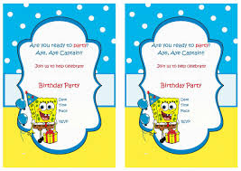 My Birthday Invitation Card Spongebob Birthday Invitations Marialonghi Com