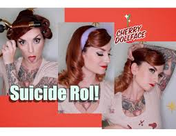 easy vintage hairstyles vintage hair tutorial easy suicide roll by cherry dollface youtube