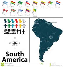 Map Of Bolivia South America by Political Map Of South America Stock Vector Image 49886317