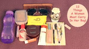 12 things a woman must carry in her bag youtube