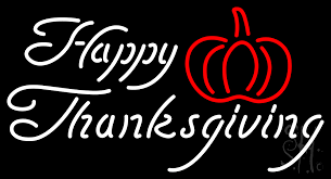 happy thanksgiving neon sign thanksgiving neon signs every