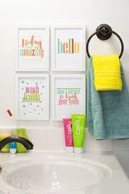 Bathroom A by Unisex Kids Funny Bathroom A Set Of 4 Art Print Unframed