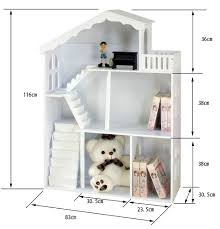 Kids Dollhouse Bookcase Wholesale Fashion And Elegant White Wooden Dollhouse Bookcase Kids