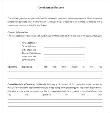 combination resume template u2013 6 free samples examples