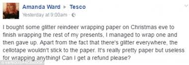 walking dead wrapping paper tesco flooded with complaints as wrapping paper leaves homes