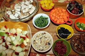 after thanksgiving turkey n fruit salad goodies with