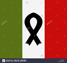 Itlaly Flag Italy Flag With Mourning Ribbon Stock Photo Royalty Free Image