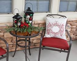 Outdoor Christmas Pillows by Southern Seazons Christmas Plaids On The Front Porch