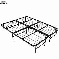 homdox queen size metal folding platform bed frame base mattress