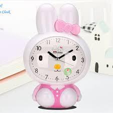 bureau num駻ique bande dessinée enfants lapin électronique horloge de bureau