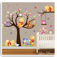 winnie the pooh bedroom paints lovely winnie the pooh wall stickers white with brown