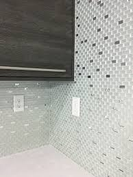 our frosted mirror glass tile backsplash with regular silver
