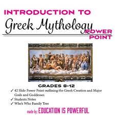 greek gods and goddesses family tree teaching resources teachers
