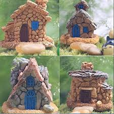 amazon com trasfit 4 pieces miniature fairy garden stone house