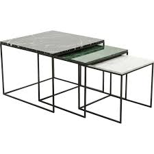 marble top nesting tables nest of marble top coffee tables i love retro