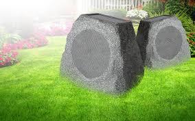Wireless Outdoor Patio Speakers Solar Stone Single Wireless Solar Rechargeable Garden Speaker