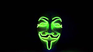 anonymous mask spirit halloween halloween masks led green www cool mania com youtube