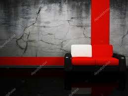 Red And Black Sofa by Interior Design With A Red And Black Sofa U2014 Stock Photo
