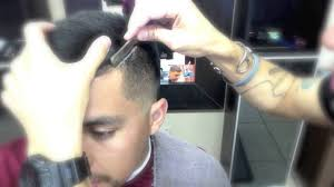 how to line up a side part with a straight razor youtube