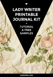 writing journal paper the lady writer printable journal kit creative writing blog printable journal kit lady writer book binding tutorial printable ribbons title