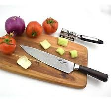Sharpening Japanese Kitchen Knives Shinken Professional Japanese Chef Knife 8 Inch Blade Bonus Knife
