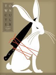 rabbit poster monday bunday town cutler poster bunny eats design