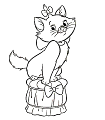 marie aristocats coloring pages 2 kittens colouring litle pups