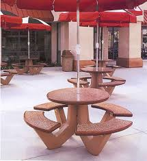 round cement picnic tables concrete round table concrete tables park furnishings tables