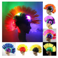 light up afro wig aliexpress com buy new light up flashing led mohawk or rainbow