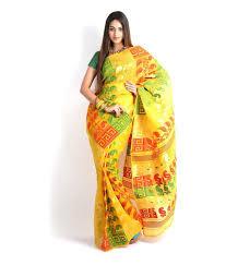 dhakai jamdani saree buy online sanchari yellow bengal dhakai jamdani saree buy sanchari yellow