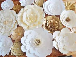 flower backdrop diy paper flower backdrop set of 30 paper flowers paper