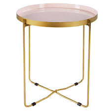 gold metal side table lacquered pink and gold metal side furniture pinterest