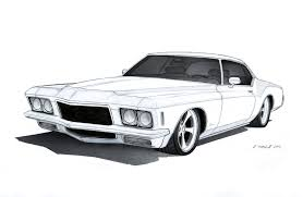 car drawing muscle car drawing clipart image 41986