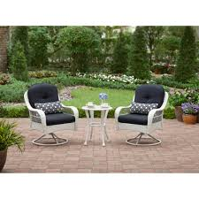 Bistro Set Bar Height Outdoor by Better Homes U0026 Gardens Whitehaven 3 Piece Bistro Set Walmart Com