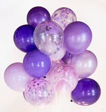 blueberry confetti balloon bouquet purple party baby shower
