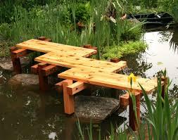 decor garden with pond and garden bridges also landscaping ideas