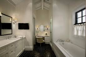 black and white herringbone bathroom floor tiles design ideas