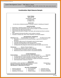 9 combination resume template word letter adress