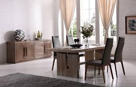 Simple Dining Room With Polished Black Carliste Patio Dinette by Modrest Cologne Modern White Wash Oak Dining Table Vgvct8962