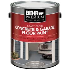 behr premium 1 gal 902 slate gray 1 part epoxy concrete and