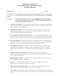 Sample Resume Objectives For Volunteer by Scholarship Resume Objective Free Resume Example And Writing