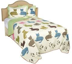100 cotton colorful cat full queen quilt with shams page 1