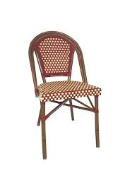 White Plastic Bistro Chairs Cafe Chairs The Sean Dix Copine Dining Chair Features Metal