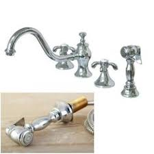 kitchen faucets overstock pioneer americana series two handle bridge kitchen faucet silver