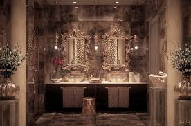furniture luxury moroccan bathroom with black vanity cabi and